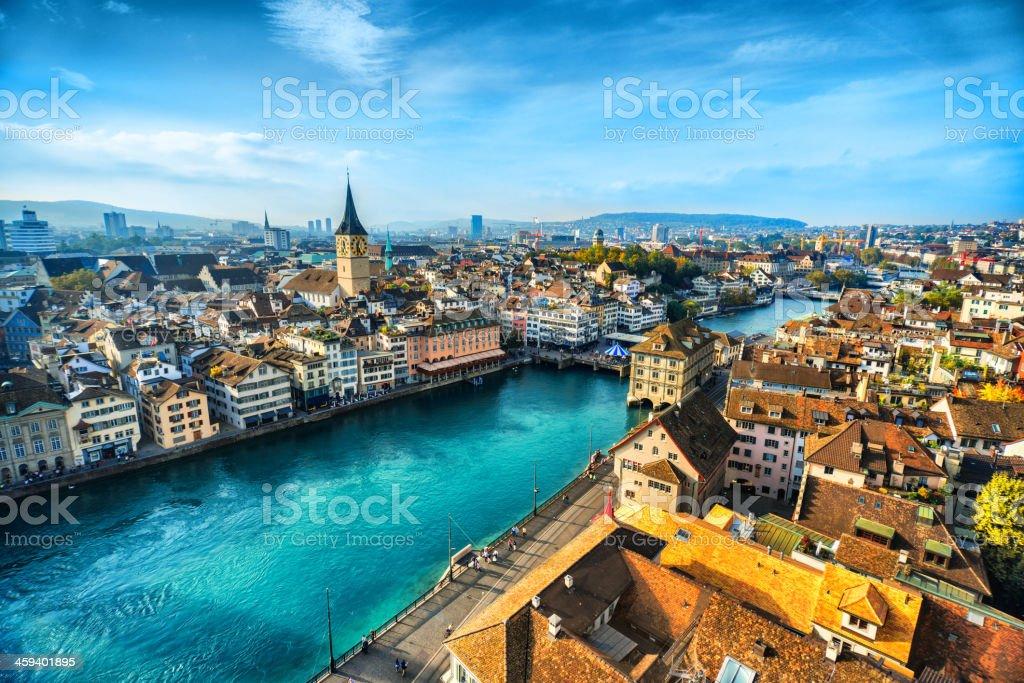Zurich Cityscape, Switzerland stock photo