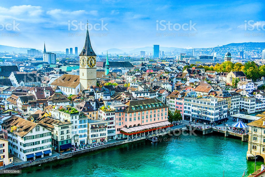 Zurich Cityscape, Switzerland stock photo