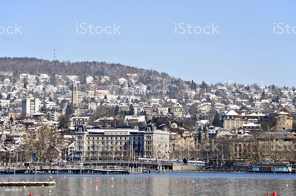 Zurich in Winter royalty-free stock photo