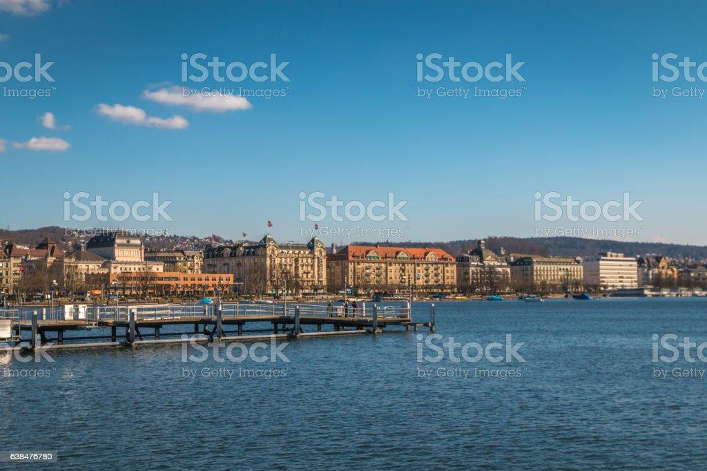 Zurich Lake stock photo