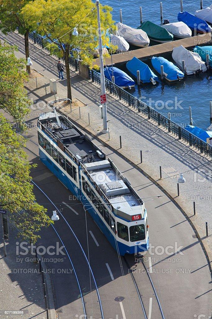 Zurich tram stock photo