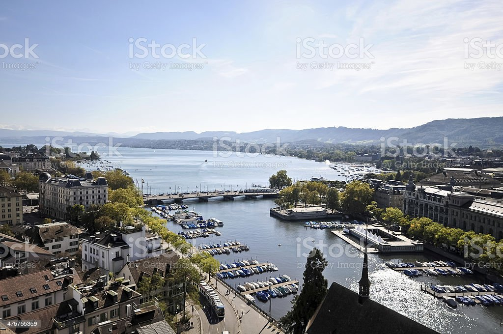 Zurich - View from above stock photo