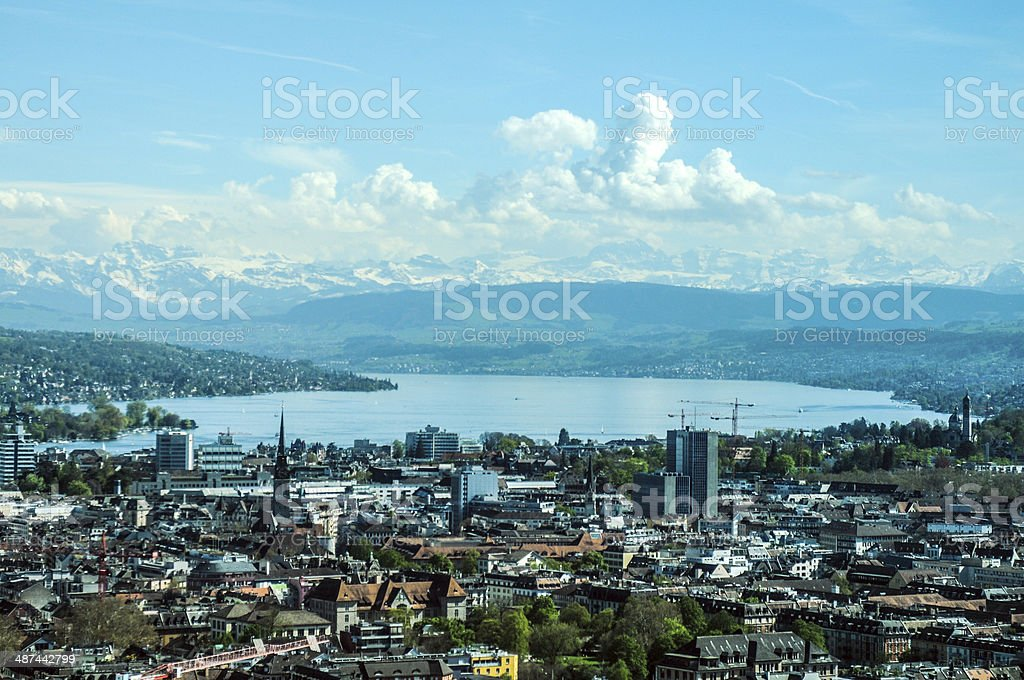 Zurich with Lake stock photo