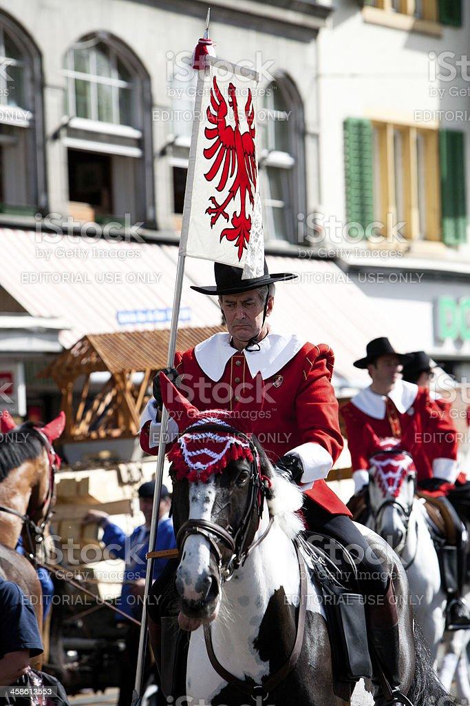 Zurich's Sechselauten Parade royalty-free stock photo