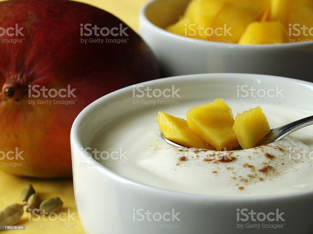 Zutaten für Mango Lassi royalty-free stock photo