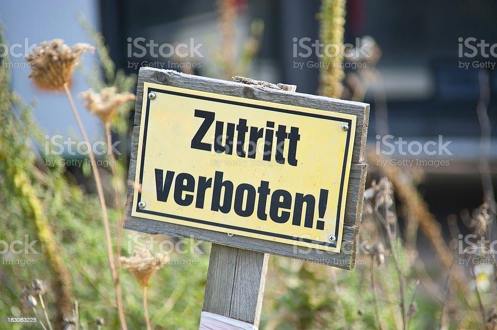 Zutritt verboten stock photo