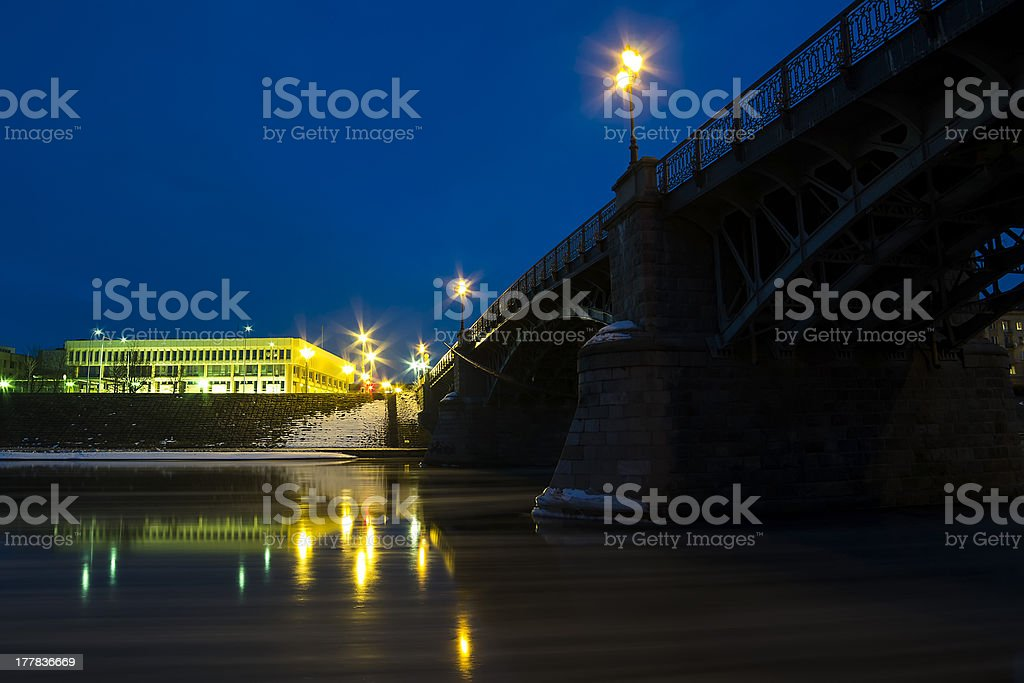 Zverynas Bridge and Lithuanian Parliament royalty-free stock photo