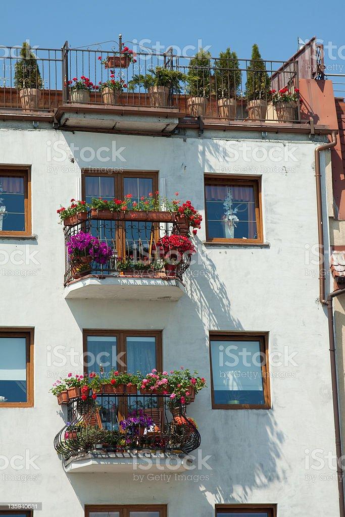 Zwei Balkone stock photo