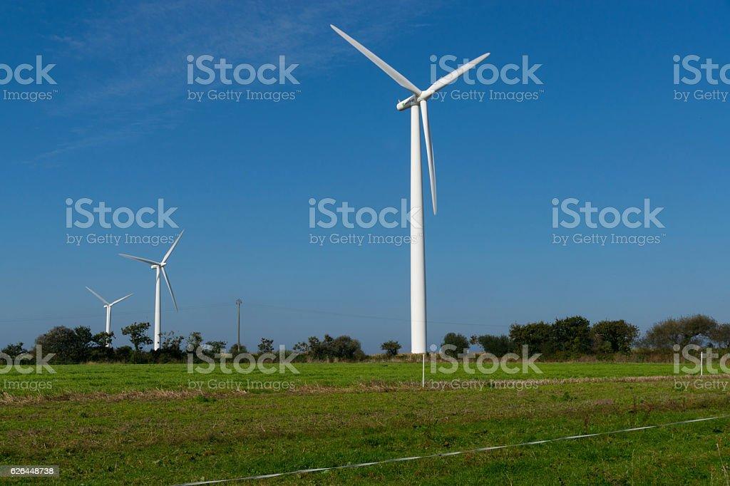 Zwei Windräder stock photo