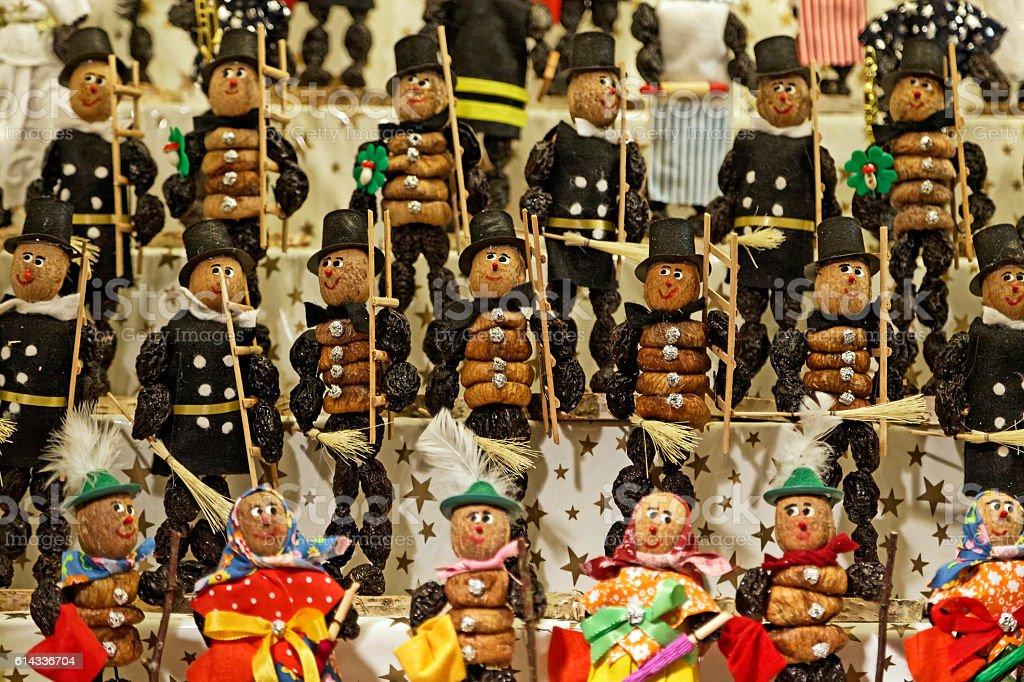 Zwetschgenmännla - traditional souvenir from Nuremberg Christmas market stock photo