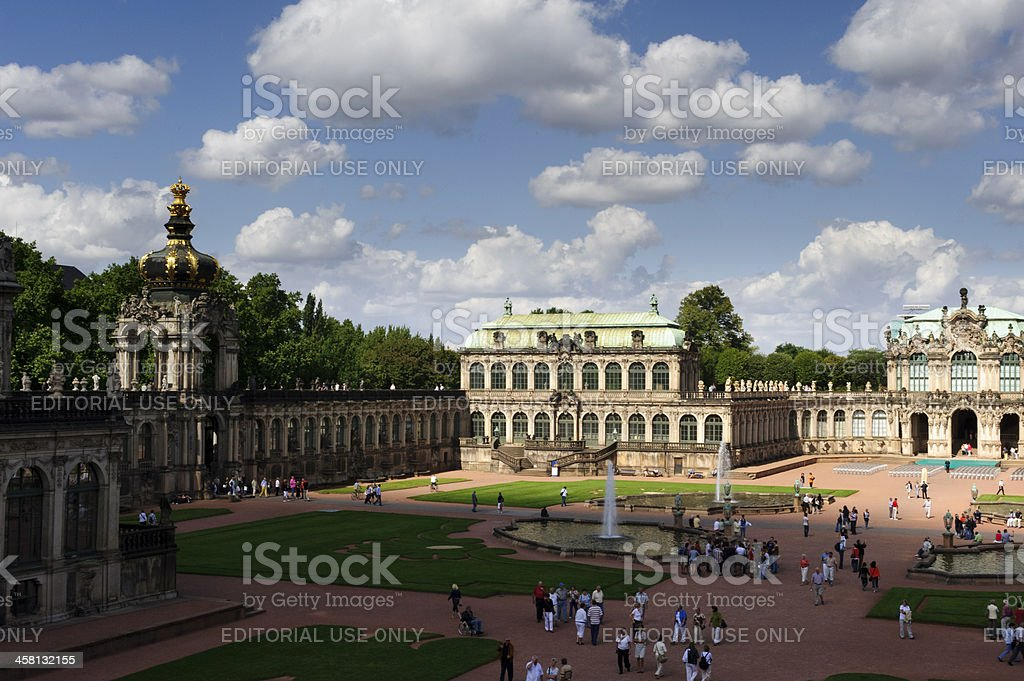 Zwinger Palace, Dresden Germany stock photo