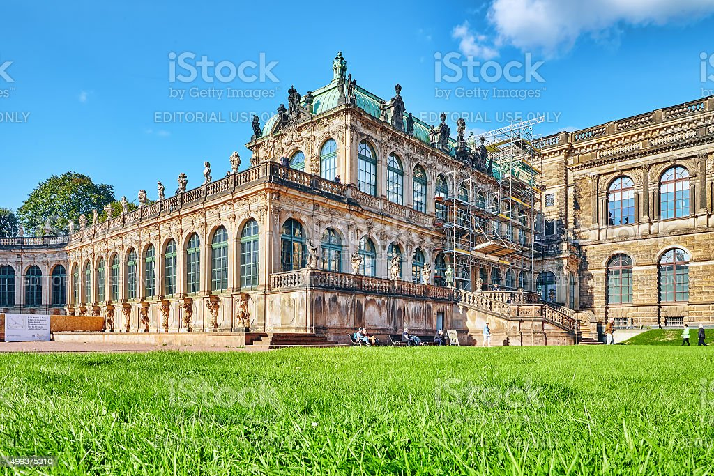 Zwinger Palace, Dresden. stock photo