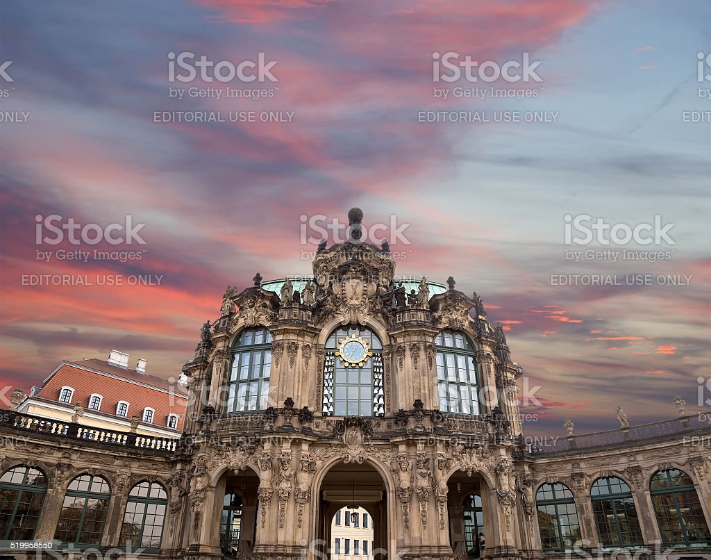 Zwinger Palace (Der Dresdner Zwinger) in Dresden, Germany stock photo