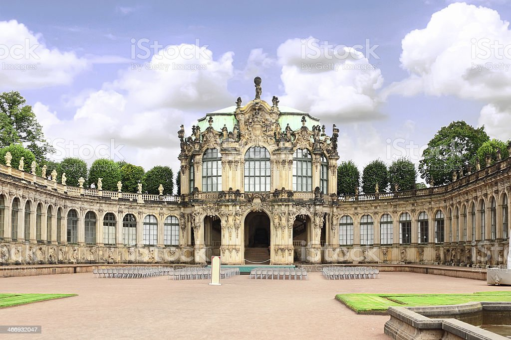 Zwinger Palace (Der Dresdner Zwinger) in Dresden stock photo