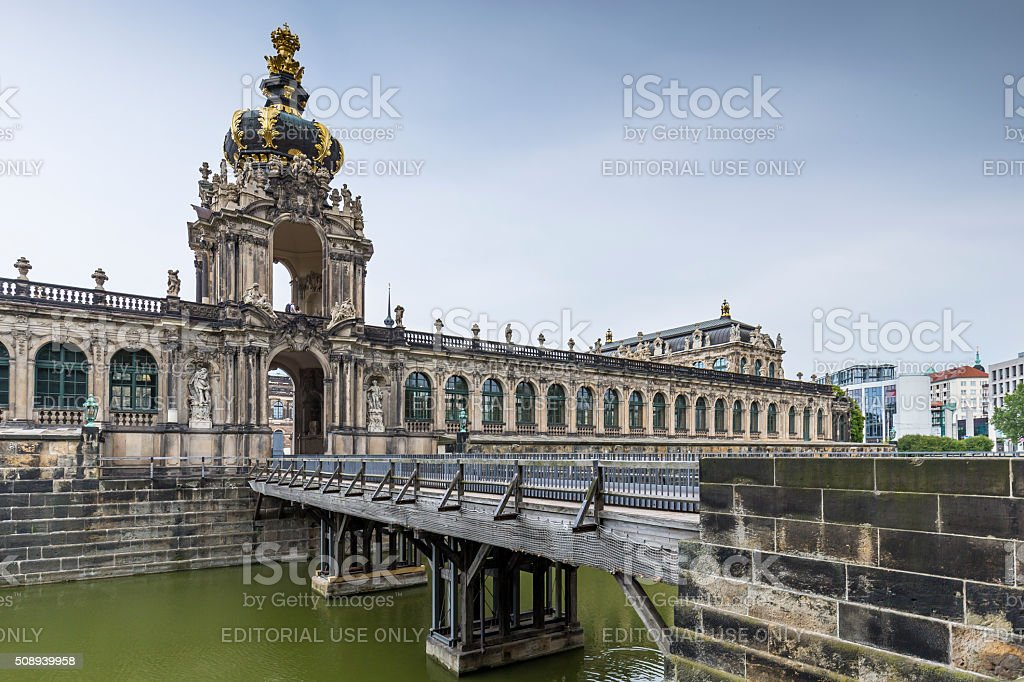 Zwinger Palace, museum complex in Dresden stock photo