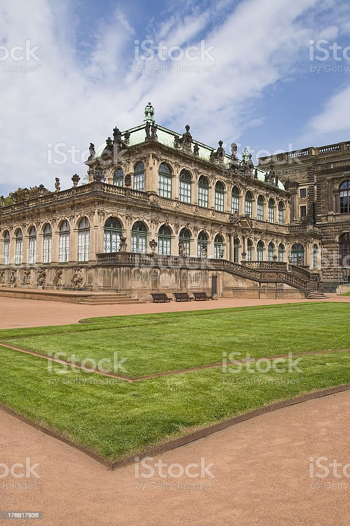 Zwinger Palace Museum Dresden stock photo