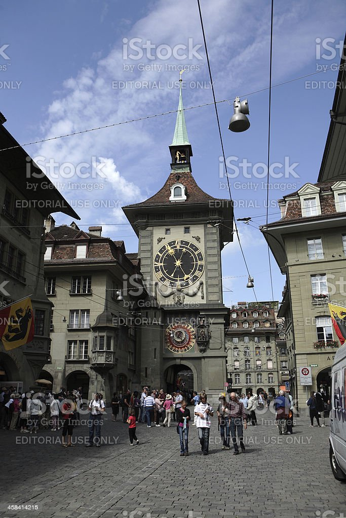 Zytglogge is a landmark medieval tower in Bern, Switzerland royalty-free stock photo