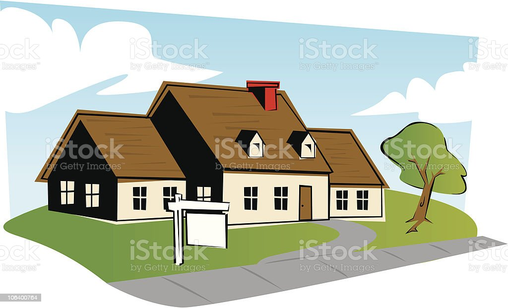 CURB APPEAL royalty-free stock vector art