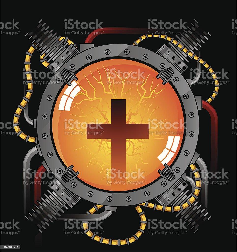 GOD POWER royalty-free stock vector art
