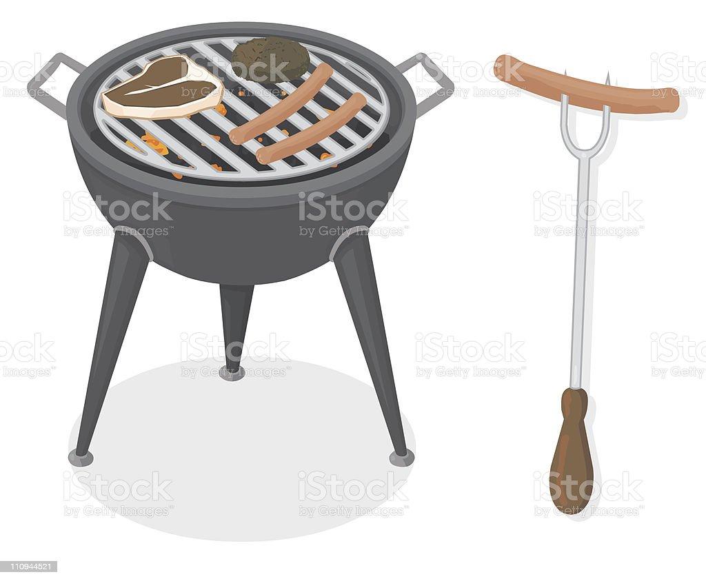 BBQ royalty-free stock vector art