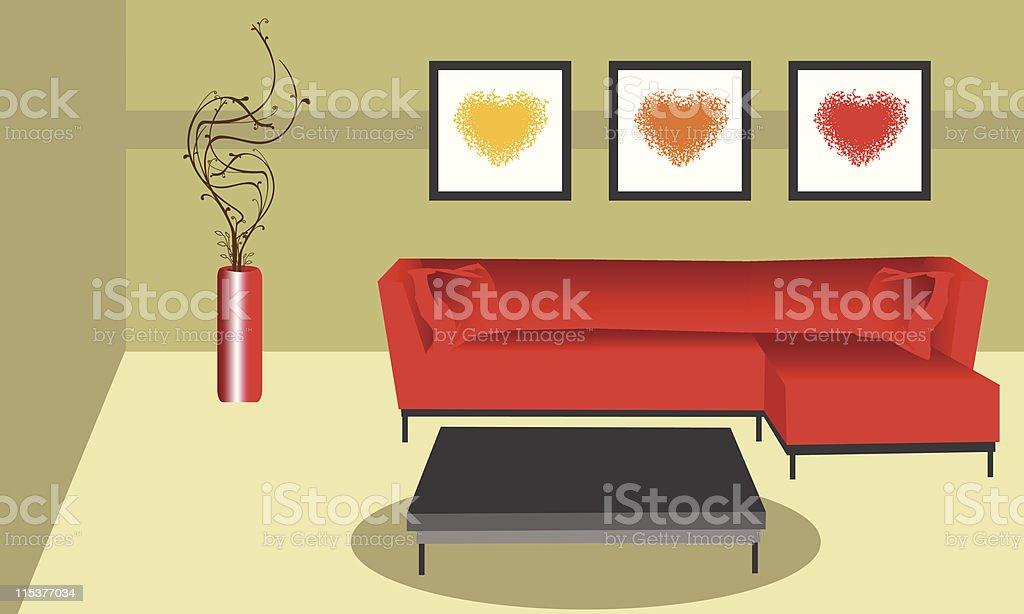 FUNKY ROOM royalty-free stock vector art