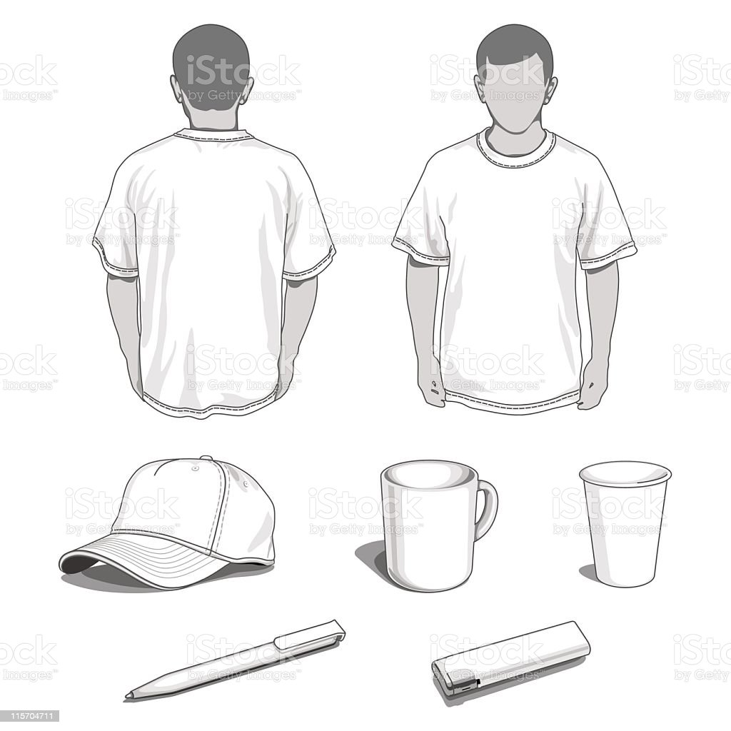 CORPORATE IDENTITY TEMPLATES vector art illustration