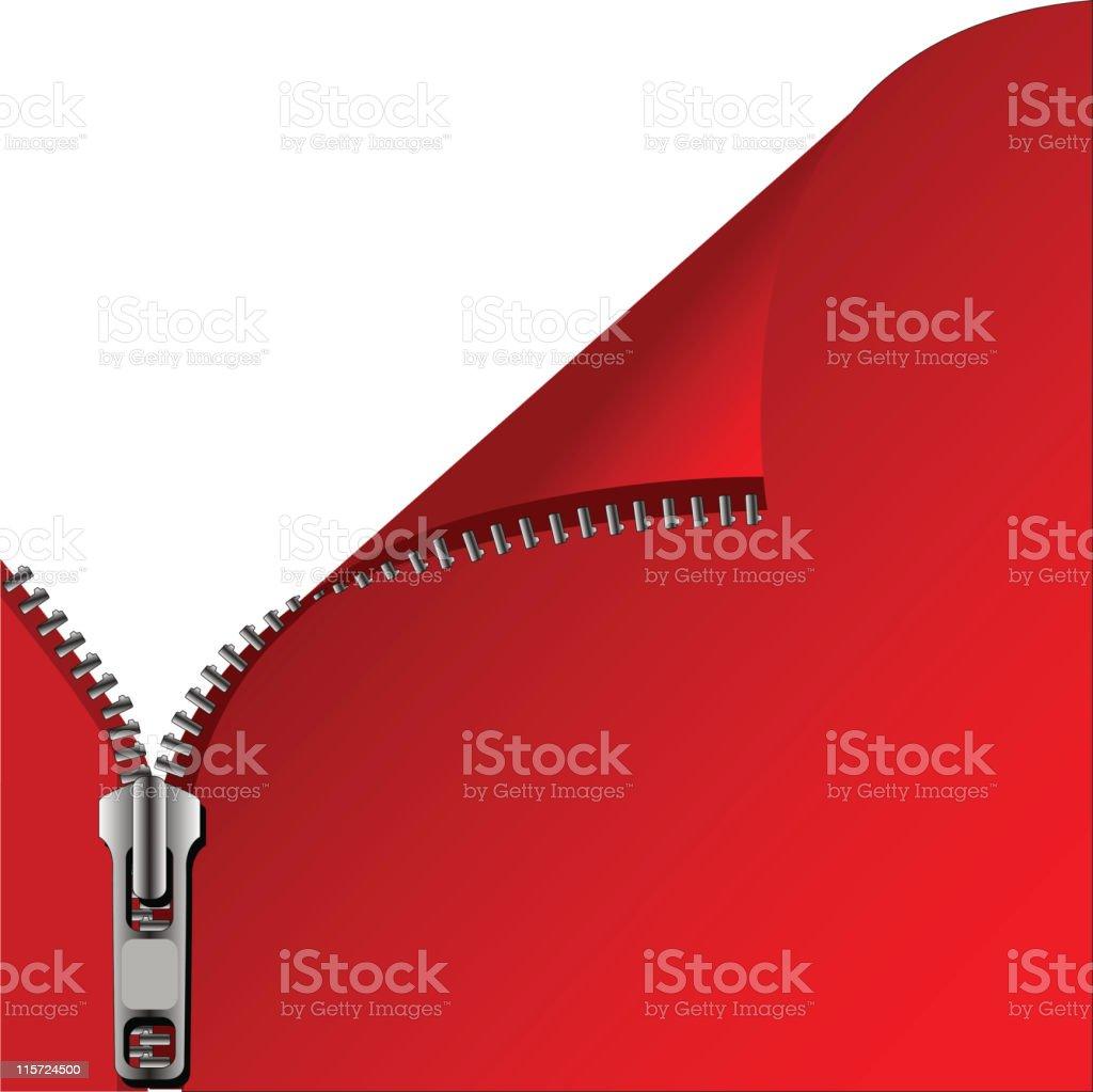 RED OPEN ZIP BACKGROUND (Vector) vector art illustration