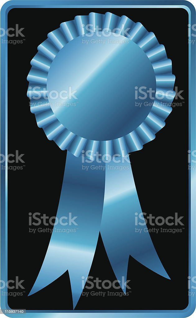 BLUE RIBBON royalty-free stock vector art