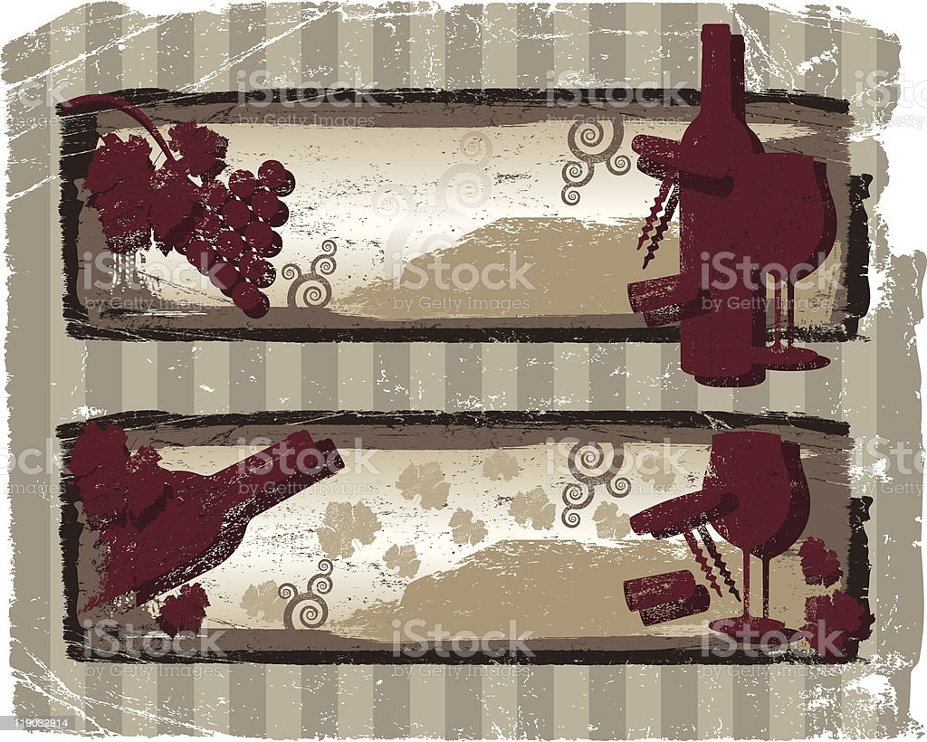 PANCARTAS DE VINO vector art illustration