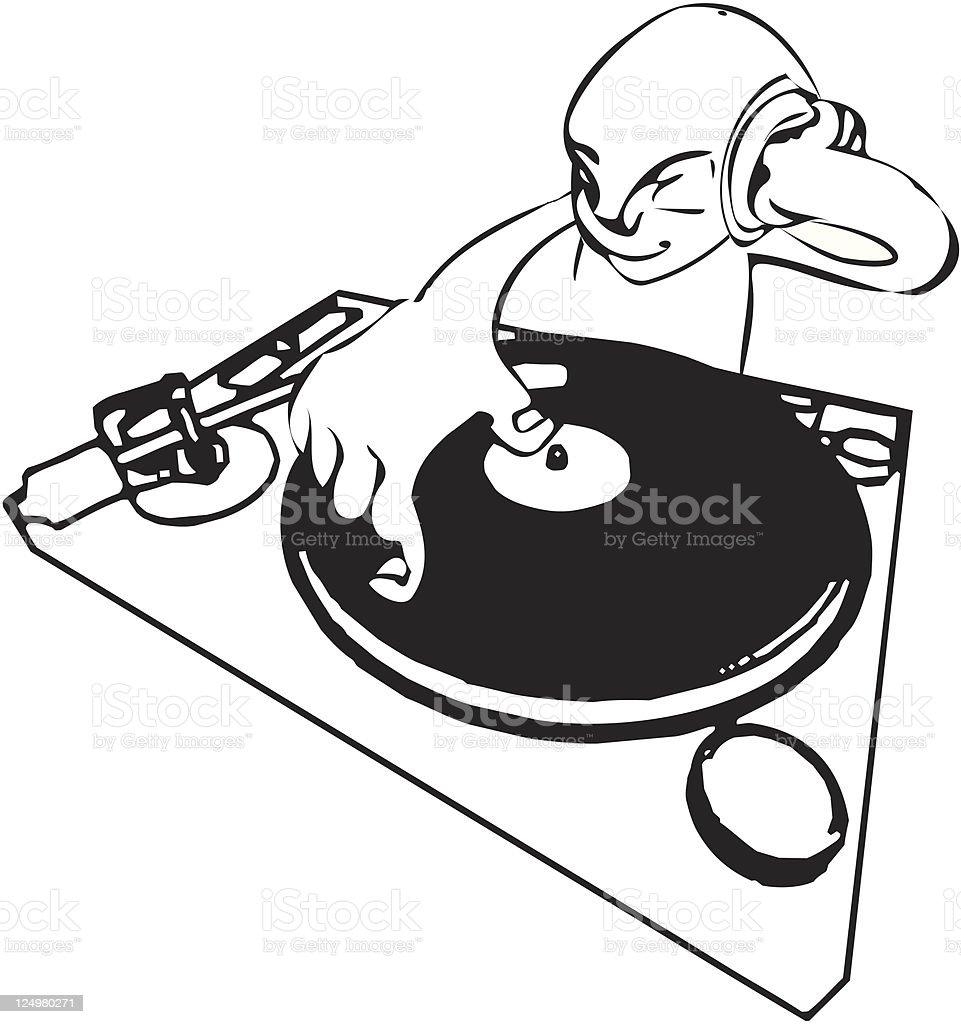 DJ vector art illustration