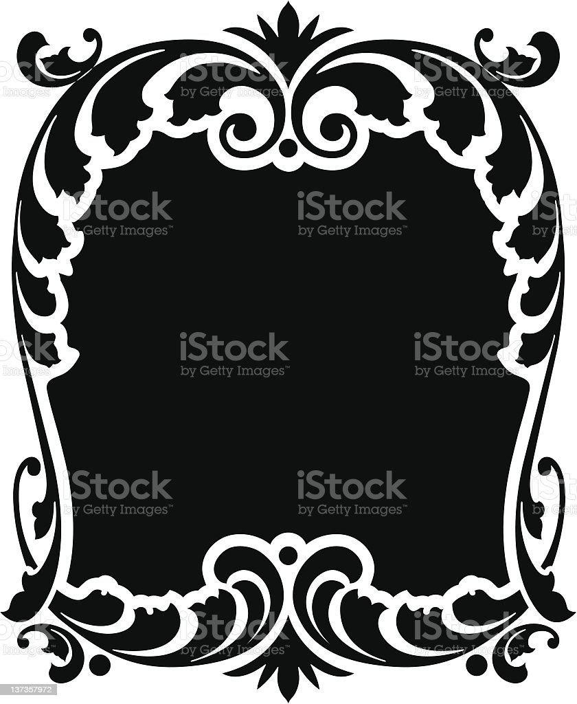 ORNATE VECTOR PANEL royalty-free stock vector art