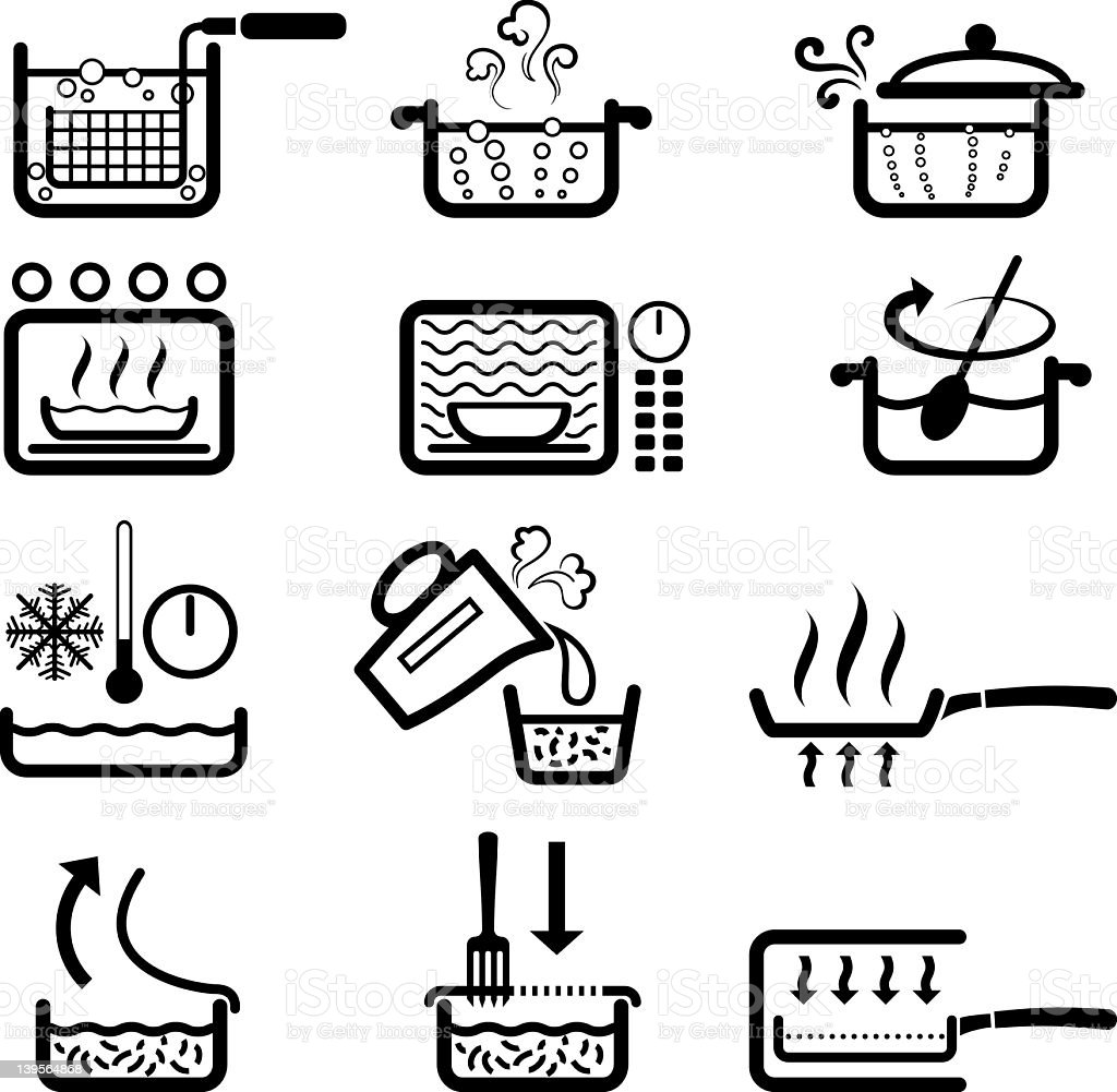 COOKING INSTRUCTIONS vector art illustration
