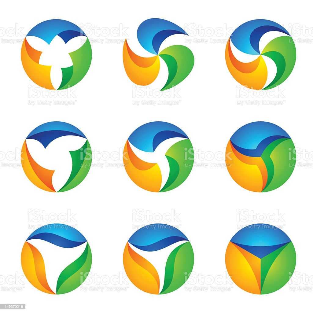 ABSTRACT ICON SET royalty-free stock photo