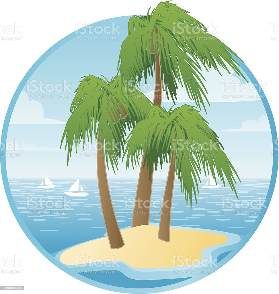 TROPICAL PALMS royalty-free stock vector art