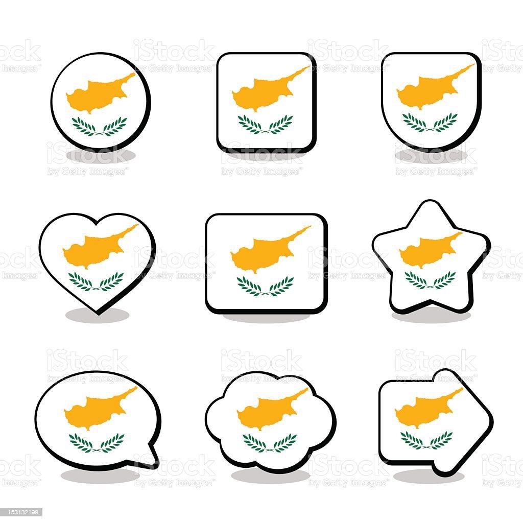 CYPRUS FLAG ICON SET royalty-free stock vector art