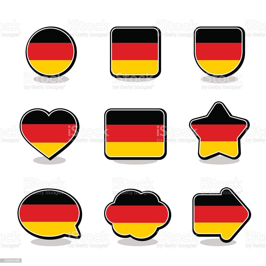 GERMANY FLAG ICON SET stock photo