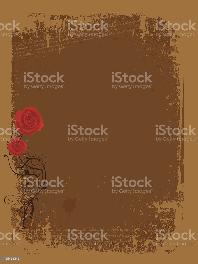 ROSE LETTER royalty-free stock vector art
