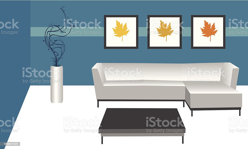 CONTEMPORARY ROOM royalty-free stock vector art