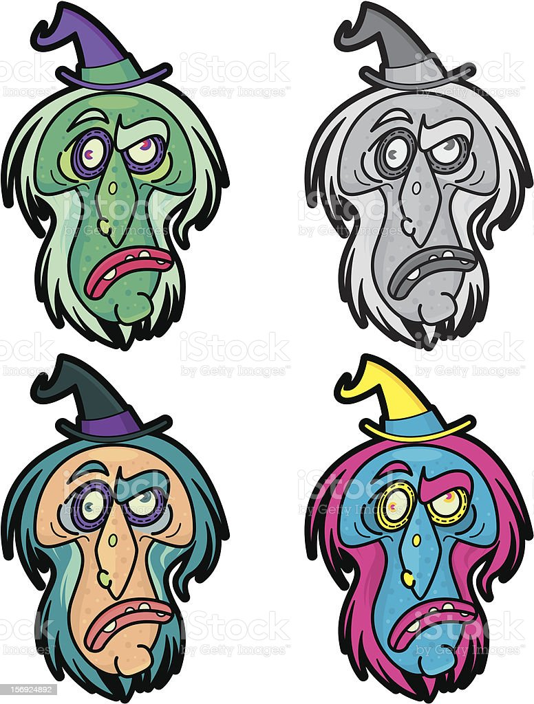 WITCH MASK royalty-free stock vector art