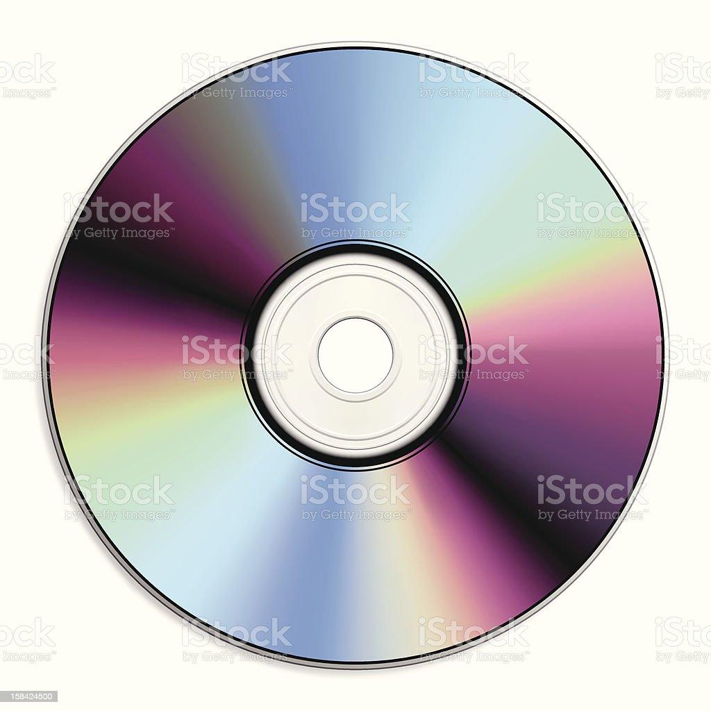 CD/DVD vector art illustration