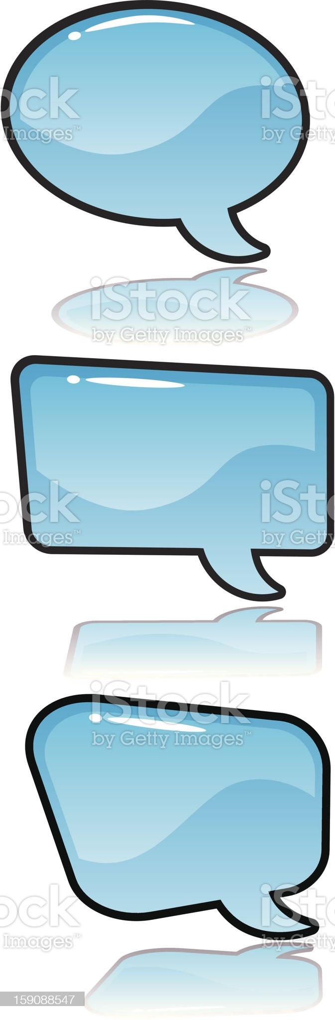 MESSAGE BUBBLES royalty-free stock vector art