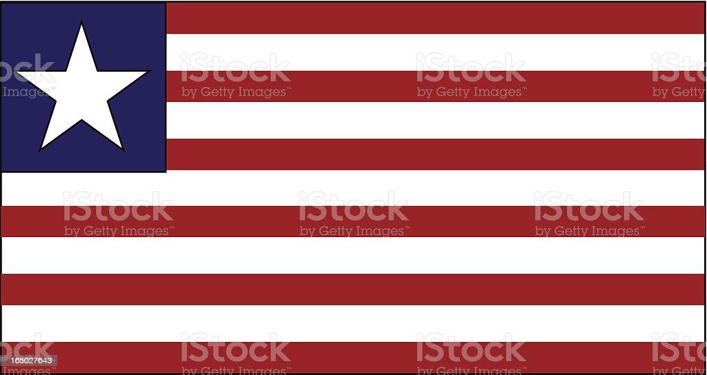 LIBERIA FLAG   VECTOR royalty-free stock vector art