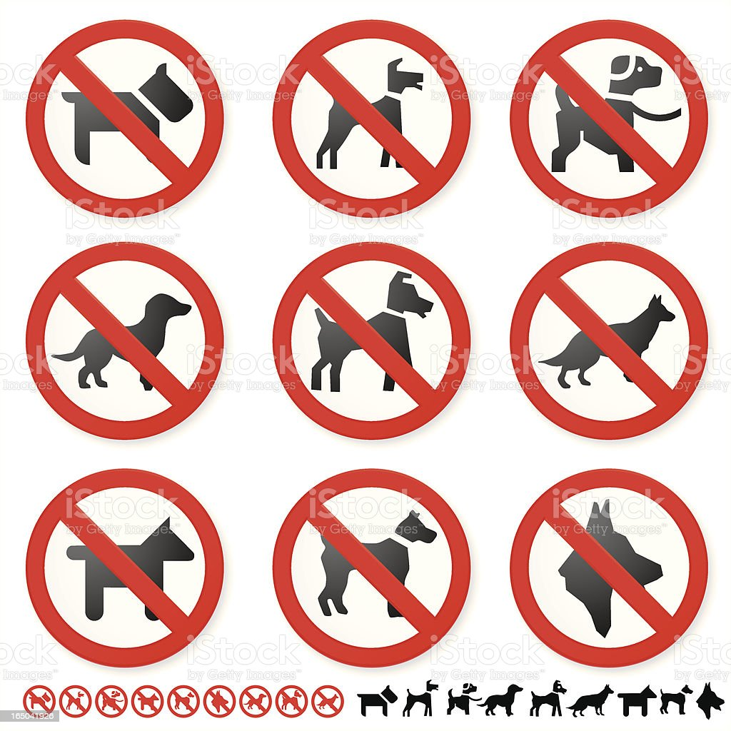 DO NOT DOGS royalty-free stock vector art
