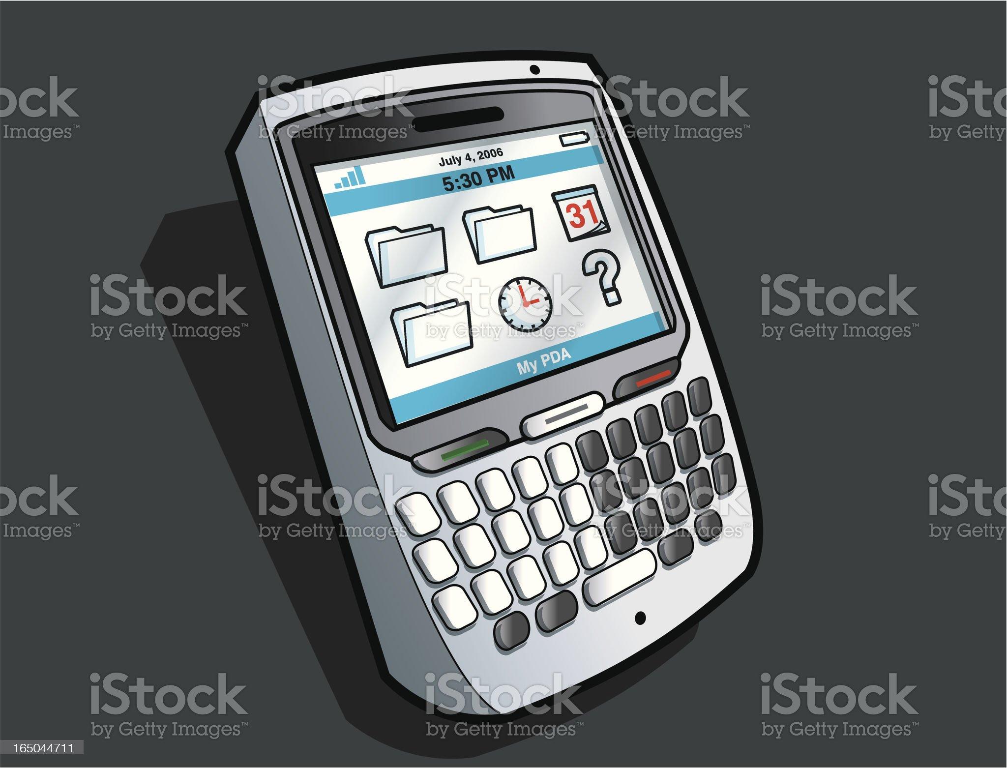 PDA royalty-free stock vector art