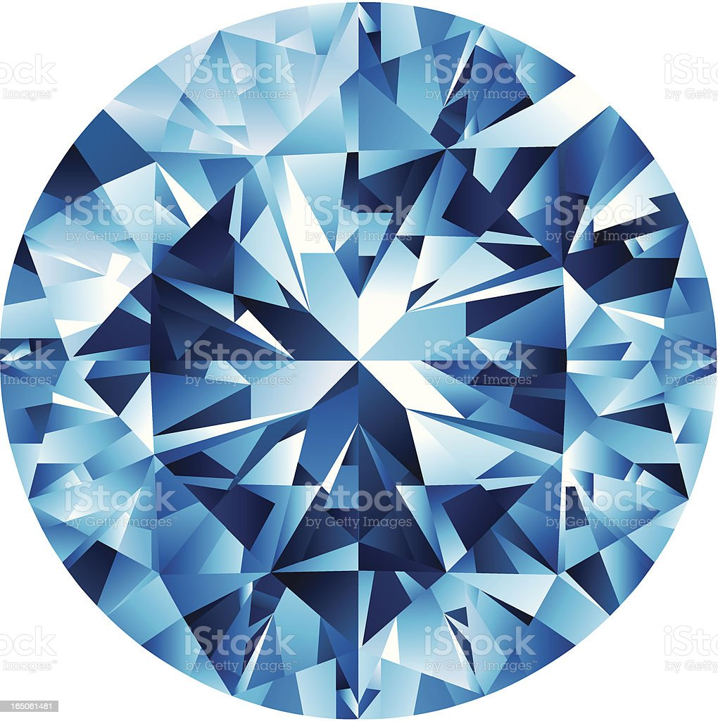 BLUE DIAMOND vector art illustration