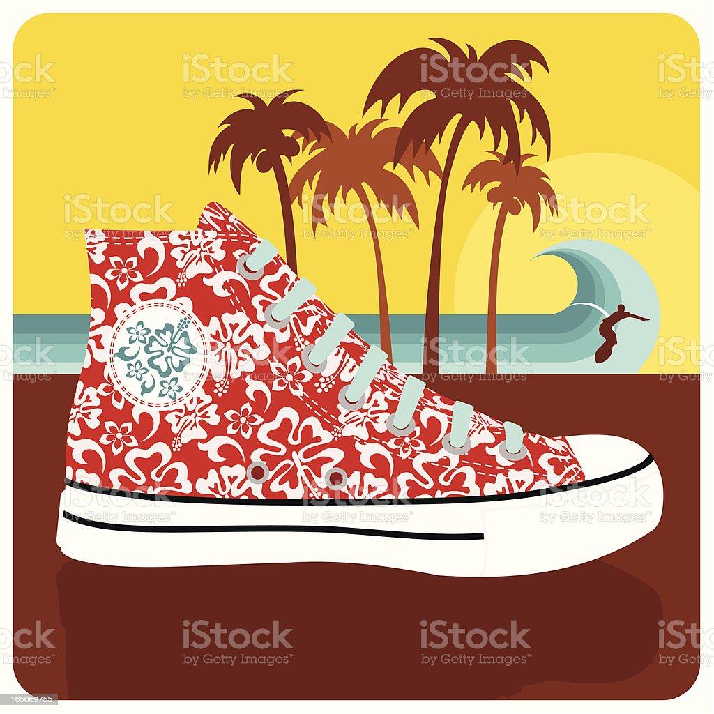 SURF CHUCK vector art illustration