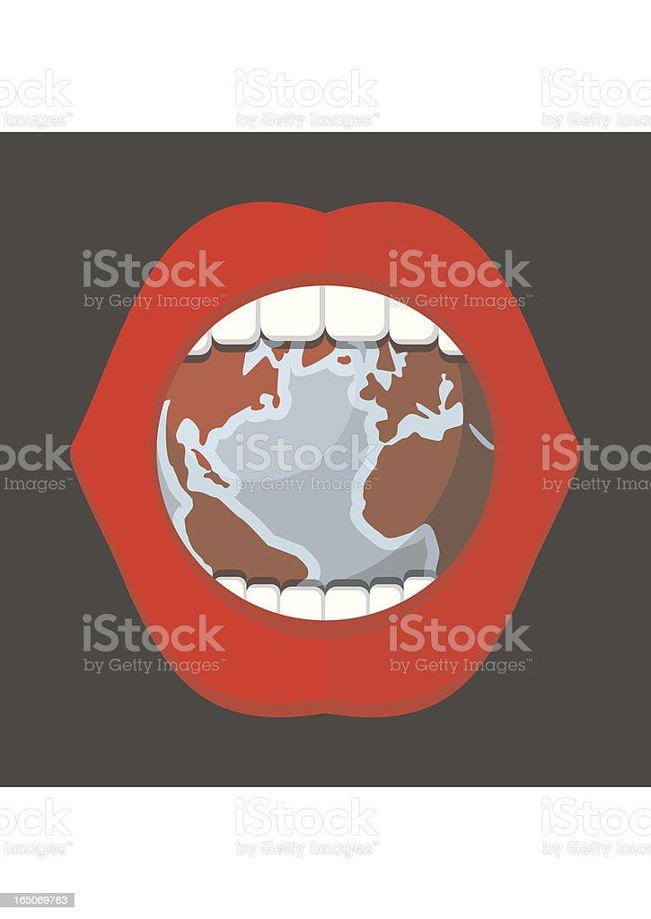 EATING WORLD royalty-free stock vector art