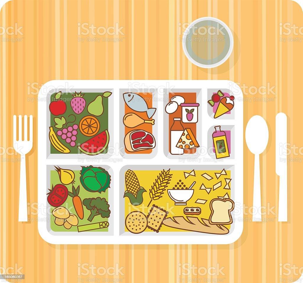 FOOD PYRAMID vector art illustration