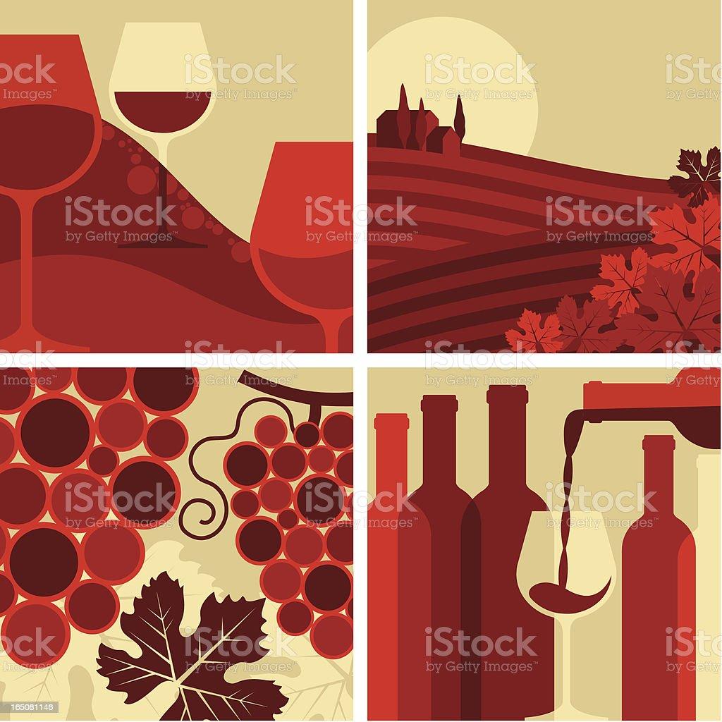 WINE SET vector art illustration