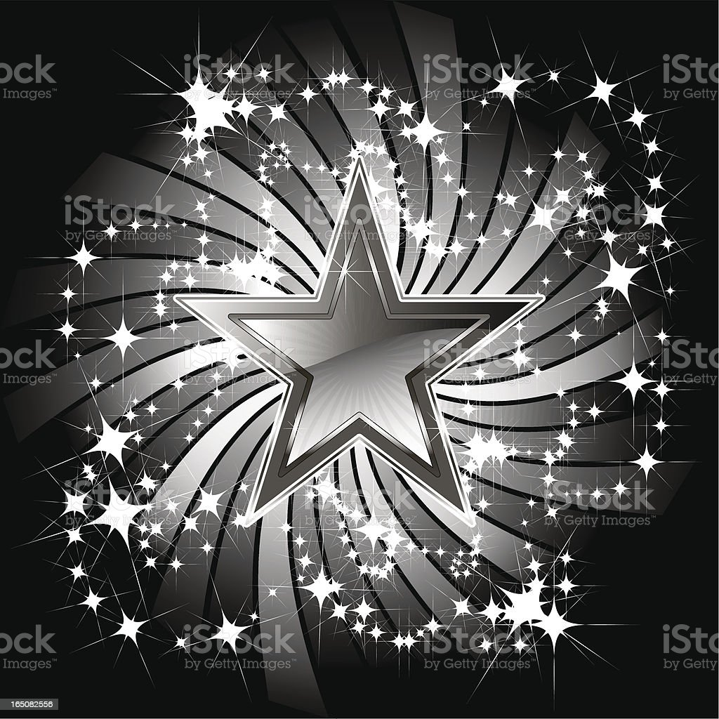 STAR TWIST SPARKLY ELEMENT royalty-free stock vector art